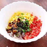 番茄虾仁鸡蛋水晶蒸饺#资深营养师#的做法图解5
