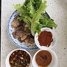 平底锅五花肉,家常版韩式烤肉,无油无盐