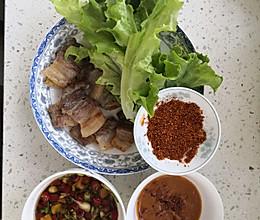 平底锅五花肉,家常版韩式烤肉,无油无盐的做法