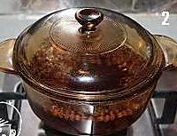 红豆芋头奶香甜汤的做法图解2