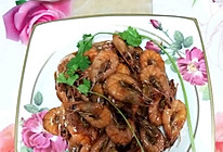 用糖盐醋淀粉和料酒做出来的焅大虾