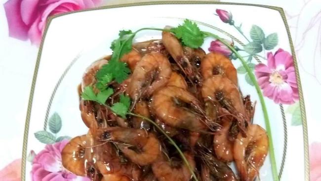用糖盐醋淀粉和料酒做出来的焅大虾的做法