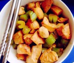 减肥小餐 鸡胸脯炒芹菜的做法
