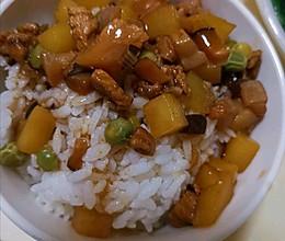 单身懒人快手饭,蘑菇土豆盖饭的做法