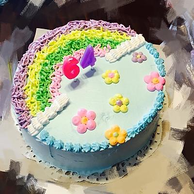 彩虹蛋糕 8寸
