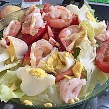 海鲜鲜蔬沙拉