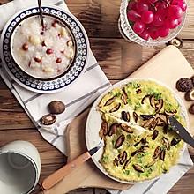 香菇煎蛋营养早餐