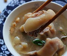 黄豆炖猪蹄汤-冬季暖身的做法