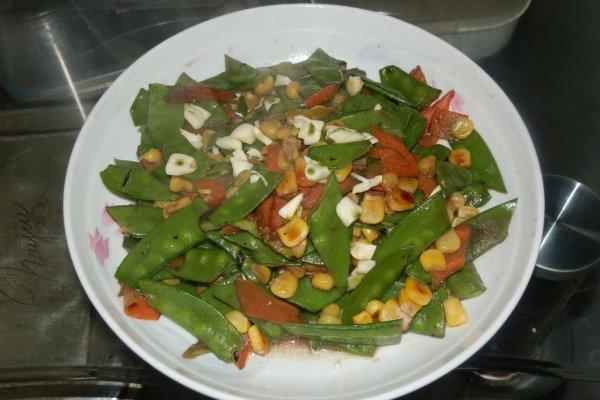 玉米荷兰豆的做法