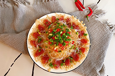 腊肠粉丝金针菇