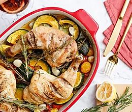 感恩节快手烤箱大餐,南瓜番茄配鸡腿,一秒驱散冬季的孤独感!的做法