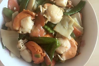 扇贝炒杂菜