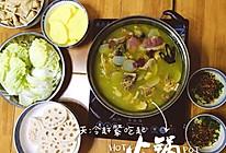 天麻雪莲果火腿鸡,养生火锅吃起来的做法