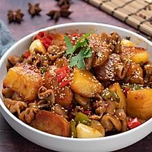 土豆溜肥肠