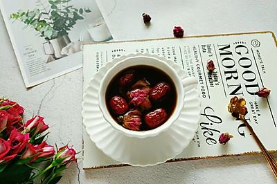 玫瑰姜枣茶#秋天怎么吃#