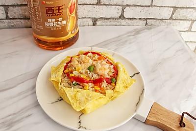 虾仁蛋包饭#西王鲜味道#