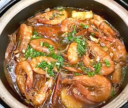石锅金针菇开背虾#下饭红烧菜#的做法