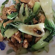 油菜炒面筋