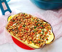 #助力高考营养餐#豆腐肉末蒸蛋的做法