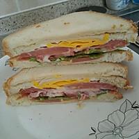 微波炉版无油三明治的做法图解11