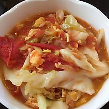 西红柿鸡蛋炒圆白菜(包菜)