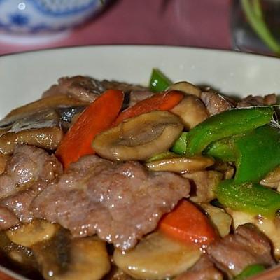 牛肉炒蘑菇