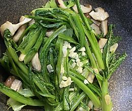 香菇油麦菜(低脂又健康的快手菜)的做法