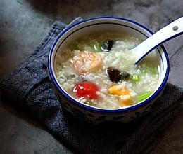 皮蛋海鲜粥的做法