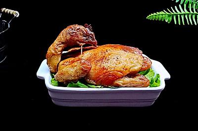 烤箱版【脆皮烤鸡】