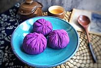 紫薯·茶巾绞的做法