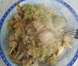 白菜炒馒头的做法