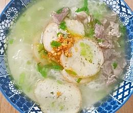 好吃到面汤都喝光的广式汤米粉的做法