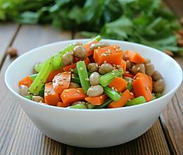 芹菜炝拌花生米的做法