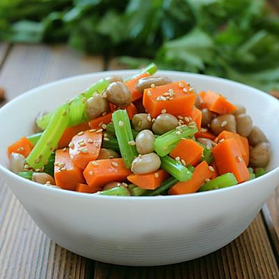 芹菜炝拌花生米