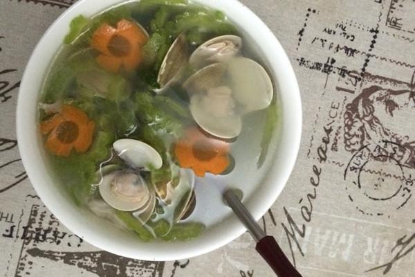 苦瓜文蛤汤的做法
