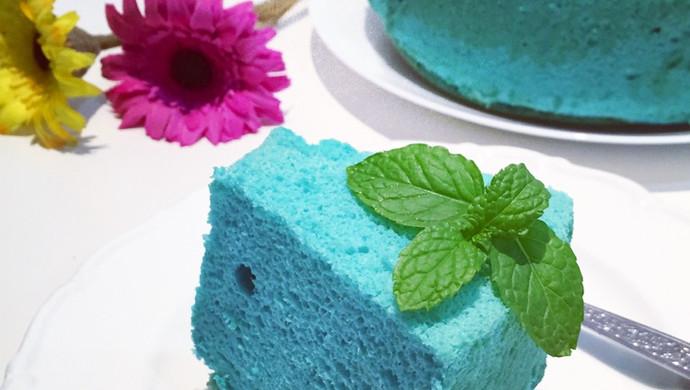 德蓝花戚风蛋糕