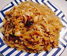 酸菜炒粉条,又名渍菜粉,酸爽下饭首选的做法