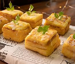 茶餐厅25一份西多士,用1片吐司面包5分钟搞定,懒人早餐必备的做法
