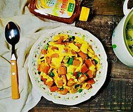 午餐肉炒鸡蛋~太太乐鲜鸡汁蒸鸡原汤的做法