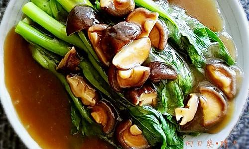 香菇扒菜心的做法