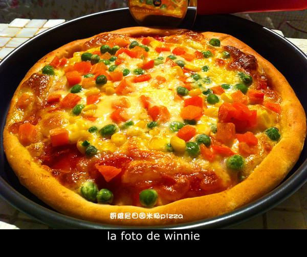 妍维尼田园米肠PIZZA的做法