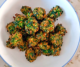 炸菠菜丸子的做法