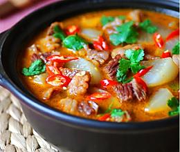 红汤牛肉锅的做法
