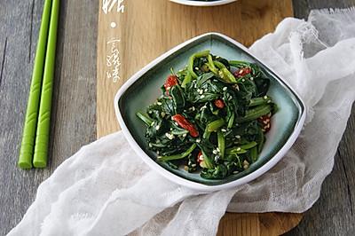 芝麻枸杞拌菠菜