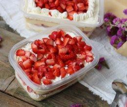 草莓蛋糕盒子的做法