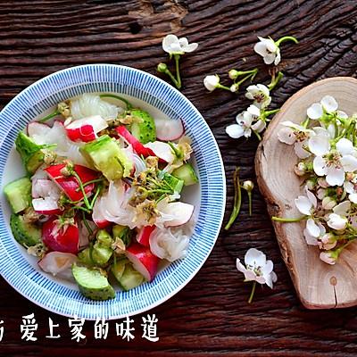 健康美味!夏天必备!凉拌梨花