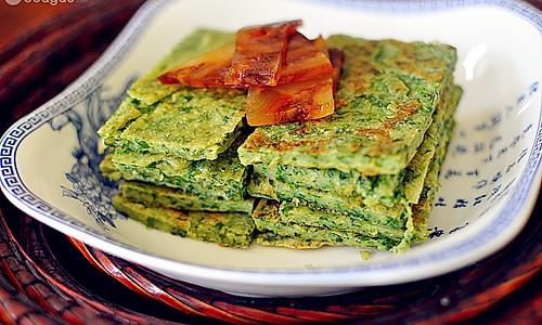 芹菜叶煎饼的做法