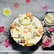#换着花样吃早餐#可爱的凯蒂猫~淡奶油戚风蛋糕