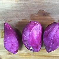 减肥减脂餐紫薯发糕#一汽呵成的做法图解1