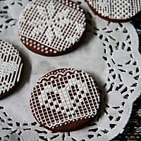 【手绘蕾丝饼干】可爱的你。可曾有一个美丽的梦的做法图解33